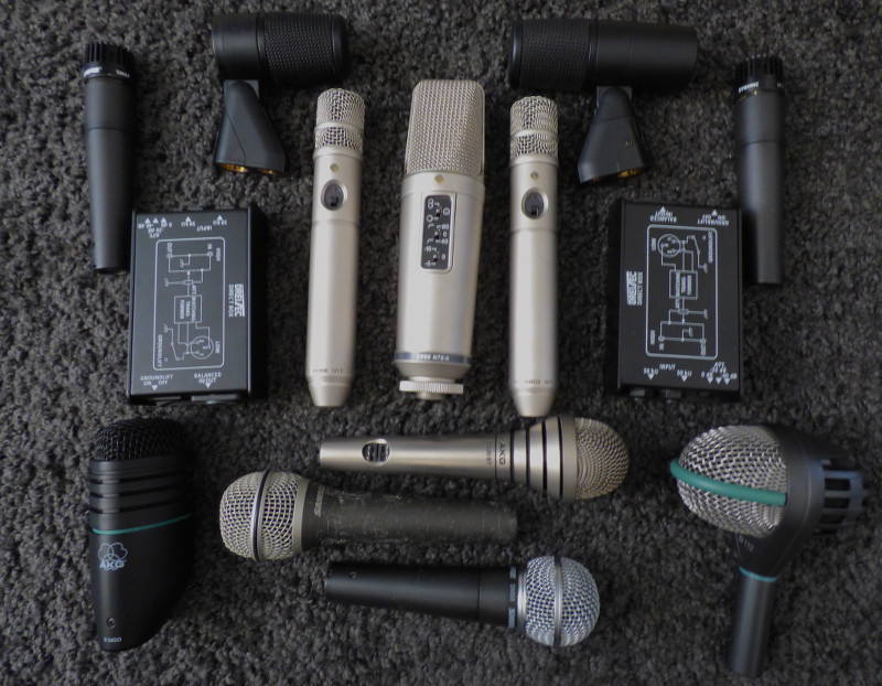 Part of the microphone collection
